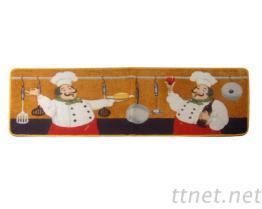 洗淨便利.防滑耐髒廚房墊. 兩個廚師