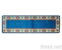 洗淨便利.強力止滑地墊.長條藍色花紋