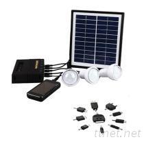 T2-FD009-3太阳能LED手提灯 太阳能家用充电小系统