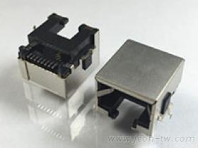 RJ45沉板式連接器, SMT 貼片