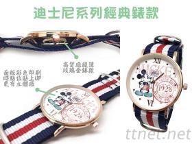 客制化 超薄玫瑰金手表 皮錶 织带錶