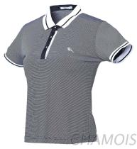 含棉條紋POLO衫-2351