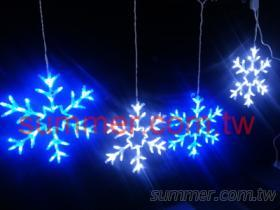 LED 藍白小雪花