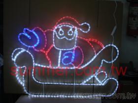 LED聖誕老公公坐雪橇