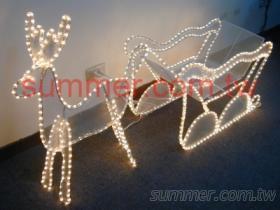 LED 立體小鹿與立體雪橇