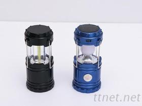 LED太陽能戶外充電攜帶伸縮式露營燈