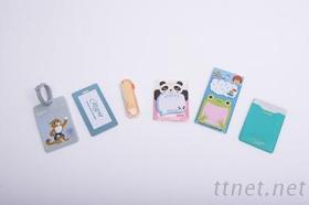 可愛文具組:造型便條紙、行李吊牌、牙籤盒等