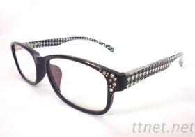 老花眼镜-镜框镶钻、镜片镀蓝膜 R3066