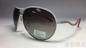 6050-金属流线淑女偏光太阳眼镜