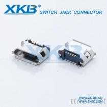 USB连接器, Micro母座, 180度直插