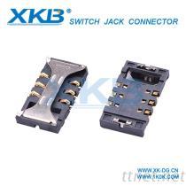供应手机类连接器 3.00mm高SIM卡座(带卡扣)