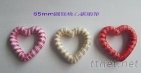 65mm圓條桃心綁緞帶