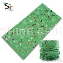 T-2144_苹果绿花布 魔术头巾