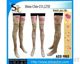花紋轉印褲襪