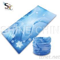 T-2014 藍聖誕氣氛 魔術頭巾