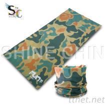 T-2094_綠色系迷彩頭巾 魔術頭巾