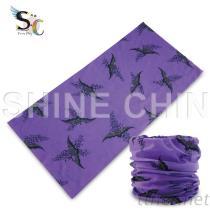 I - 1156 紫底蝙蝠 魔術頭巾