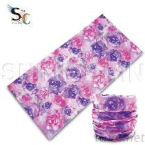 I - 1124 粉紫玫瑰 魔術頭巾