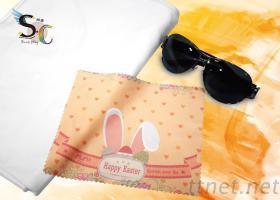 復活節兔-熱轉印眼鏡布/擦拭布/手機擦拭布