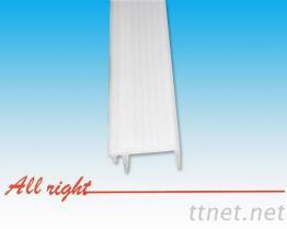 塑膠異型押出燈罩軌條