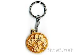 木刻鑰匙圈