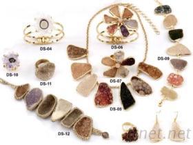 Druzy 水晶簇飾品