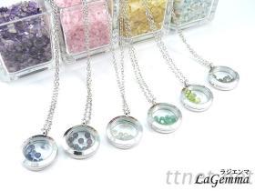 心情宝石项链相框项链
