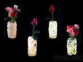 LED燈水晶原礦花瓶