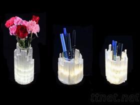 透石膏條筆筒 花瓶