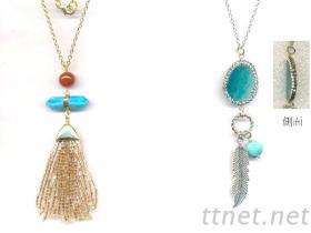 流行半寶石飾品項鍊