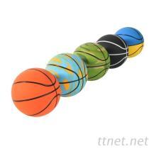 高弹力空心立体篮球