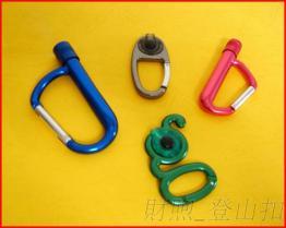 高品质铝合金登山扣 LED灯铝扣 登山钩 弹簧钩 厂家供货来样订做LED铝钩