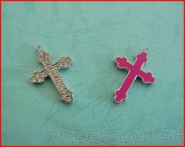 锌合金 +字架吊坠 配件吊饰 时尚挂件 diy饰品配件 厂家直销 可来样订制
