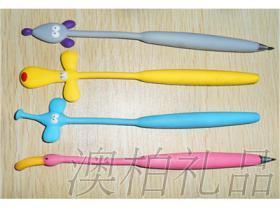 澳柏直銷PVC滴塑禮品筆, 廣告禮品圓珠筆, 軟磁禮品筆來圖定制