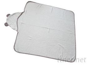 婴儿包巾-格子小熊造型包巾