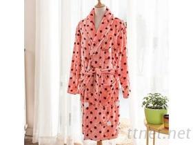 珊瑚绒舒适睡袍