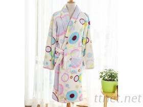 保暖柔軟珊瑚絨浴袍