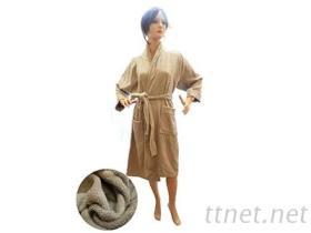 純棉柔軟棕色浴袍
