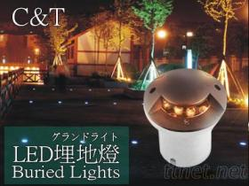 LED 单面发光 地埋灯户外照明