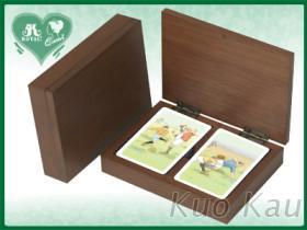 扑克牌双副木盒装