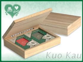 撲克牌雙副木盒裝, 中間無隔板