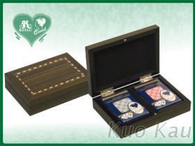 磁扣撲克牌雙副木盒裝