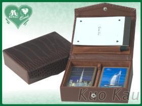 PU皮復古盒, 撲克牌雙付裝+計分組