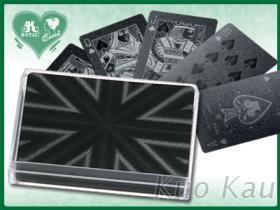 壓紋塑膠黑卡, 撲克牌