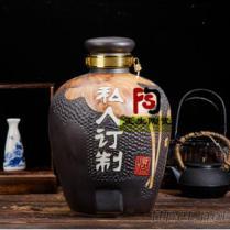 景德镇陶瓷酒坛厂家, 30斤50斤纯手工仿古陶瓷酒坛