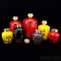 湖北定做陶瓷酒瓶厂家, 1斤旗袍酒瓶醋瓶定做
