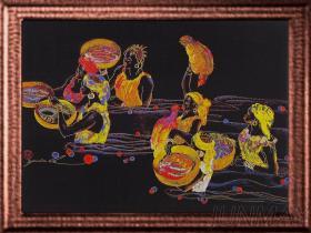 艺术全彩织画