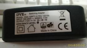 12V 1A 歐規插牆式變壓器 100-240V