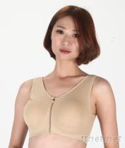 拉鍊墊肩胸罩