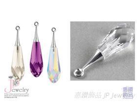 型号6532  採用施华洛世奇水晶元素水晶坠饰 水晶玻璃材质 DIY材料 原厂包